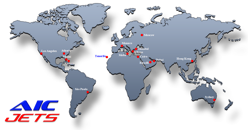 AIC JETS Corporation Partners and Offices Map