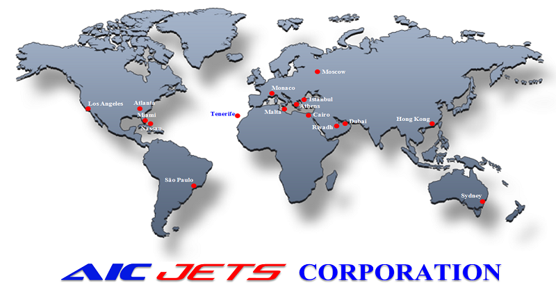 AIC JETS Corporation Partners and Offices Map | AIC JETS Corp. - Group of Companies