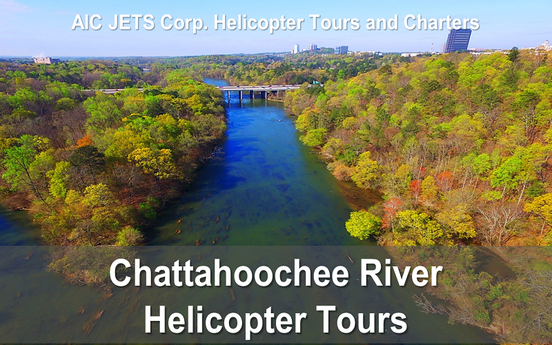 Chattahoochee River and Buckhead Helicopter Tours, Chattahoochee River to Lake Lanier Helicopter Tours | AIC JETS Corp. Helicopter Tours and Charters