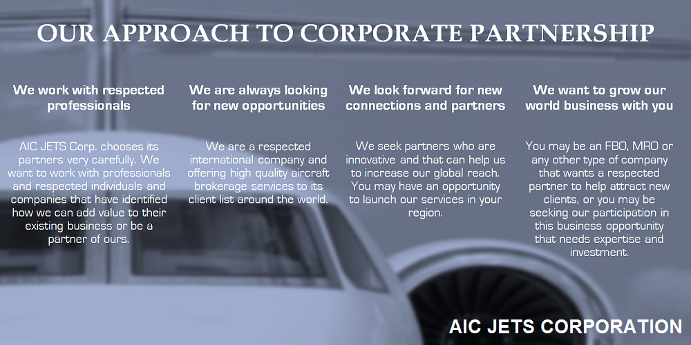 Partnership with AIC JETS Corporation - Group of Companies