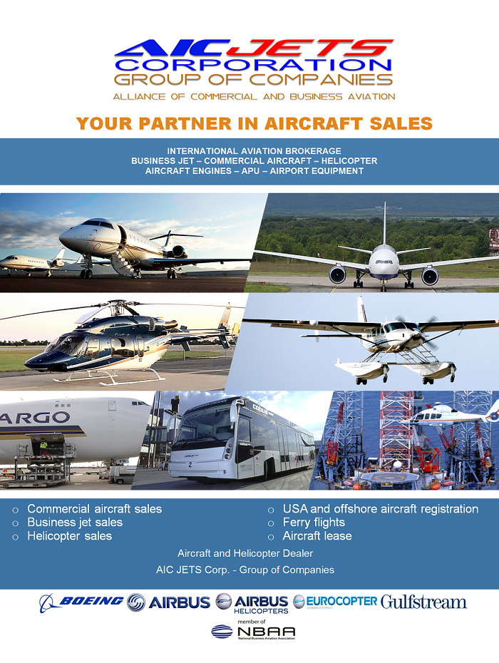 Private Jet Brokers | Business Jet Brokers | Aircraft and Helicopter Broker USA | Aircraft and Helicopter Dealer USA | Private Aircraft Broker and Dealer Atlanta, Kennesaw USA | Corporate Brochure | USA Aircraft Brokers | AIC JETS Corp. - Group of companies