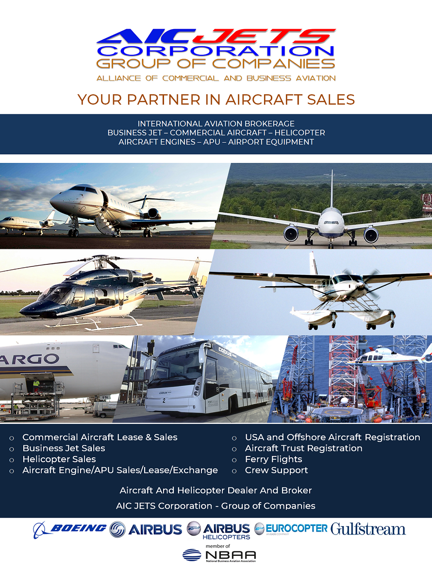 Private Jet Brokers | Business Jet Brokers | Private Jets For Sale | Aircraft and Helicopter Broker USA | Aircraft and Helicopter Dealer USA | Private Aircraft Broker and Dealer Atlanta, Kennesaw USA | Corporate Brochure | USA Aircraft Brokers | AIC JETS Corporation - Group of Companies
