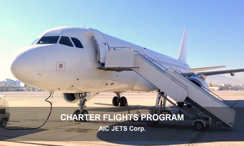 AIC JETS Corporation passenger charter flights program between Europe, Middle East and North Africa