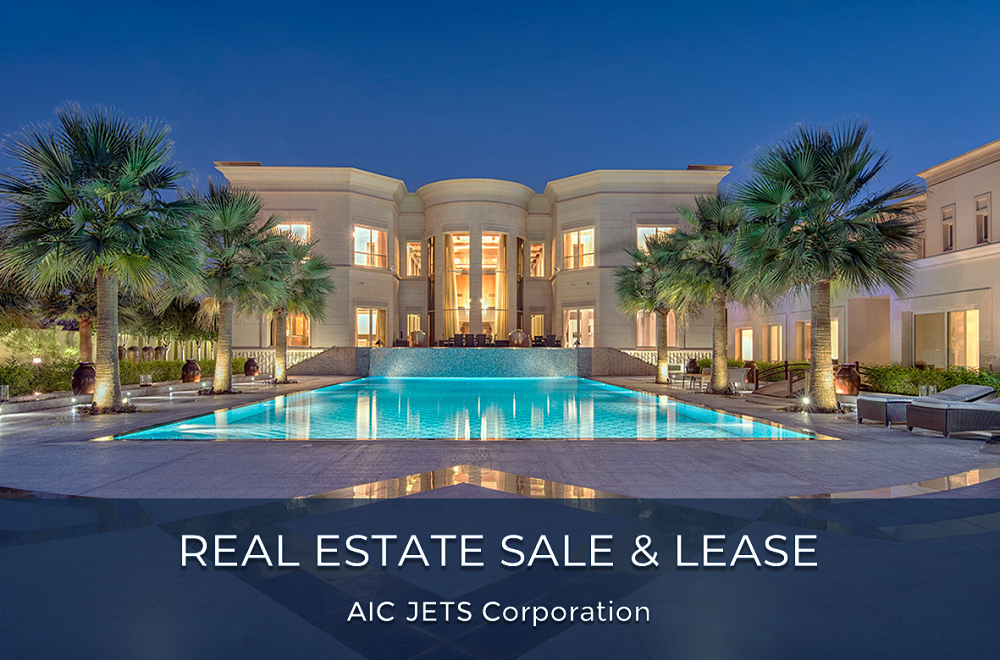 Middle East, UAE Luxury Real Estate Sales and Lease | AIC JETS Corporation